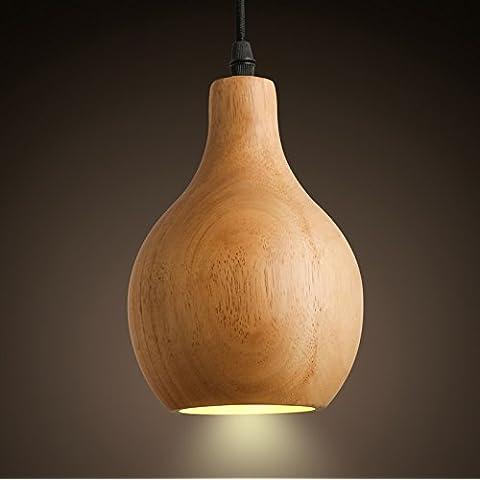 Arts luce Semi - Circolare paralume individualità legno zucca singolo - Responsabile Chandelier Creative Art Lighting