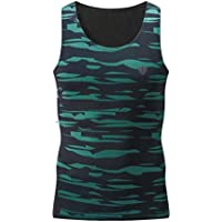 Logobeing Ropa Hombre Deportiva Fitness Entrenamiento Gimnasio Running Yoga Athletic Chaleco Top Blouse (Verde, M)
