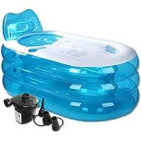 Bañeras Inflable para Adultos con Bomba de Aire eléctrica, Adulto Espesa la Tina de baño