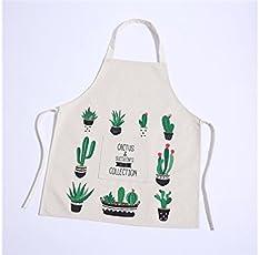 Yyanliii Spaß Cartoon-Grünpflanze-Kaktus-Blumen-Muster-Schürze für Frau und Mann