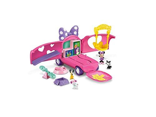 Mattel Fisher-Price X2756 - Minnie Maus Tierfreunde Van, Spielset mit (Minnie Maus Zubehör)