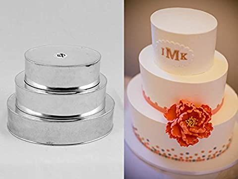 3 TIER PROFESSIONAL HEAVY DUTY OVAL WEDDING CAKE TINS 6
