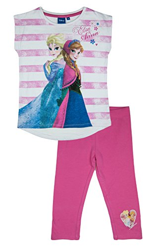 Official Licensed Disney Frozen Cropped Leggings Outfit Set For Girls Ages 3 to 8 Years