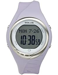Solus Unisex Digital Watch with LCD Dial Digital Display and Purple Plastic or PU Strap SL-300-005