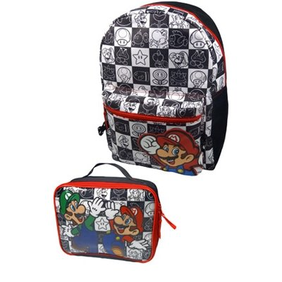 Nintendo Super Mario Bros. Mochila infantil BIO-BP881402NTN Negro 5.9