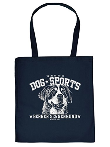 Stofftasche, Einkaufstasche mit Hundemotiv - Berner Sennenhund - Tragetasche, Stoffbeutel