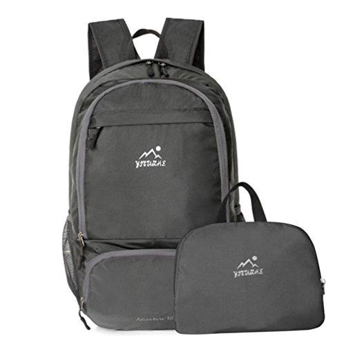 Bergsteigen Paket faltbare Schulter-Beutel helle Haut Tasche Paar im Freien Rucksack Wasserdichte tragbare Reise Grey