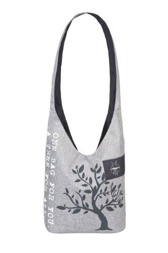 Lässig Green Label Shopper Einkaufsshopper Einkaufstasche Umhängetasche zum Einkaufen/Sport/Freizeit, Black mélange ebony
