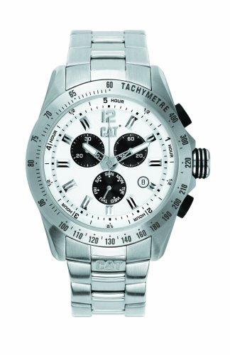 Caterpillar BIG TWIST XL CA0995 - Reloj de caballero de cuarzo, correa de acero inoxidable color plata