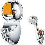 Rociador - SODIAL(R)Base de rociador ajustable universal Ventosa Soporte de cabeza de ducha Plata Amarillo