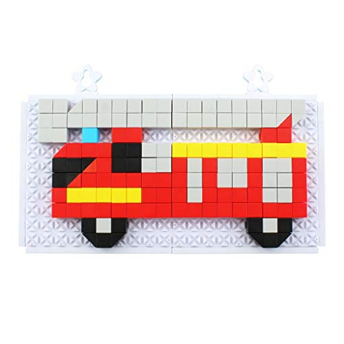 FBGood Mehrfarbiges Kinder Puzzle Spielzeug, 234 Blöcke Kreativ Kunststoff Feuerwehrauto Puzzle Pädagogisches Spielzeug Lernspielzeug Bausteine Jigsaw Geschenk für Mädchen Jungen (Für Klassischen Halloween-party-spiele Erwachsene)