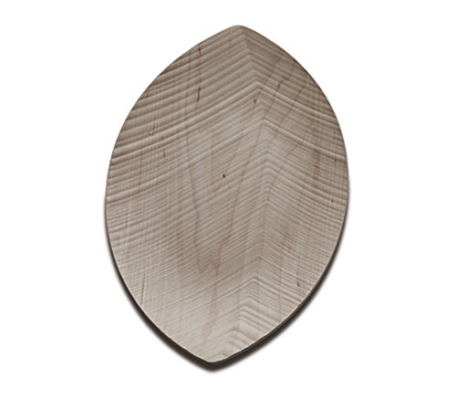 Legnoart Leaf Wood Tri-Dimensional Engraving Large Serving Tray, Maple, 445 x 250 mm