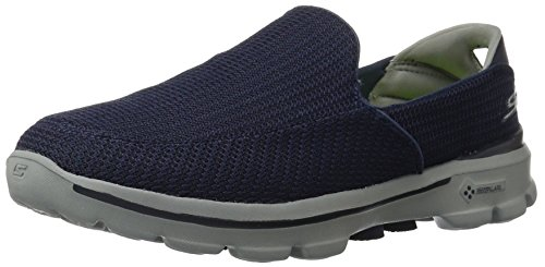 Skechers GO Walk 3, Sneakers basses homme Bleu(NAVY/Gris)