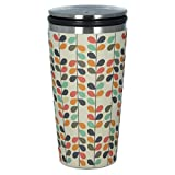 Slide Cup Chic Mic Bambus Edelstahl to go Becher Rows of Leaves