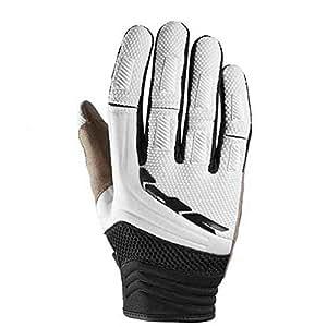SPIDI MEGA-X Textile Motorcycle Enduro/Street Gloves (Black/White, L)
