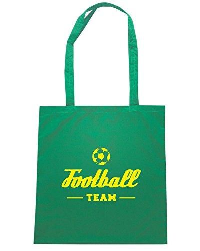 T-Shirtshock - Borsa Shopping WC1210 Football Team Maglietta Verde