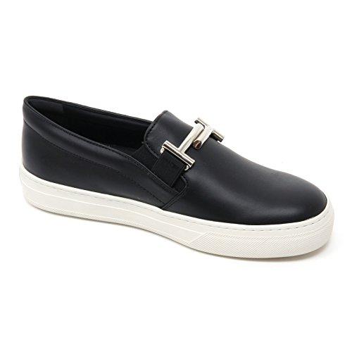 B7241 sneaker donna TOD'S scarpa maxi doppia T nero slip on shoe woman Nero