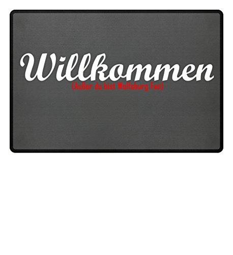 Fußmatte Anti Wolfsburg in grau - Lustige Fußball Schmutzfangmatte, gebraucht gebraucht kaufen  Wird an jeden Ort in Deutschland