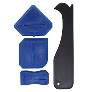 4 Pieces Sealant Tool, Borte Sealant Tool Silicone Remover Sealing Tool Kit of Silicone Spatulas, Black And Blue