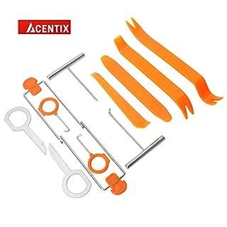 ACENTIX 12 X Radio Removal Tool,Autoradio-Türclip Dashboard-Werkzeug zum Trimmen von Dashboards die entfernung und das tool kit