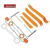 ACENTIX 12 X Radio Removal Tool ,Autoradio-Türclip Dashboard-Werkzeug zum Trimmen von Dashboards die entfernung und das tool kit