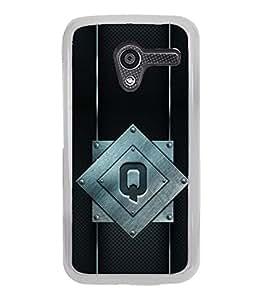 YuBingo Motorola Moto X :: Motorola Moto X (1st Gen) XT1052 XT1058 XT1053 XT1056 XT1060 XT1055 Designer Phone Back Case Cover ( Quality Letter Q (Metal Finish Plastic) )