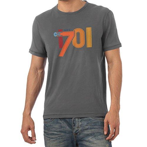 NERDO Herren NCC-1701-Herren T-Shirt, Grau, XL