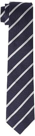 RENÉ LEZARD Herren Krawatte 4207KR70S6756575, Gestreift, Gr. One size, Blau (navy)
