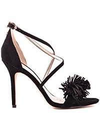 Sam Edelman Femme MCBI266004O Noir Suède Chaussures À Talons