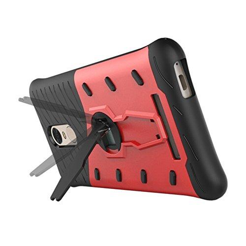 Für Xiaomi Hongmi Note 3 & Note 3 Pro Case Neue Rüstung Tough Style Hybrid Dual Layer Rüstung Defender Soft TPU / PC Rückseitige Abdeckung Fall Mit 360 ° Stand [Shockproof Case] ( Color : Gold ) Red