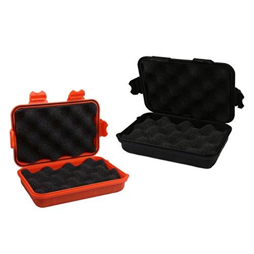 MagiDeal 2 Stück Outdoor Wasserdichte Boxen Stoßfeste und Wasserdichte Plastikboxen Dry Box -