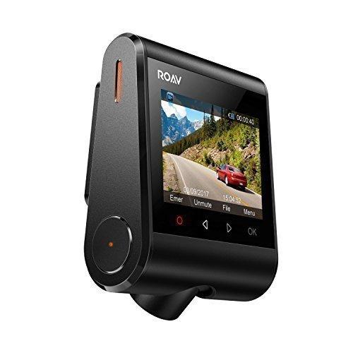 """Foto Anker Roav DashCam, Telecamera per Auto da Cruscotto con APP Android/Apple, Sensore Sony Exmor, Schermo LCD da 2.4"""", Registrazione in 1080P FHD, Camera con Grandangolo per vista a 4 corsie, WiFi incorporato, Accelerometro, WDR, Modalità Notturna e Doppia porta per ricarica USB."""