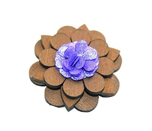 100% Handmade Brosche Blumenduft Blume Knopfleiste Kostüm Hochzeit -