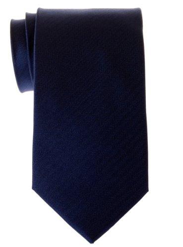 Cravate Retreez micro tissée à rayures en épi pour homme Bleu marin