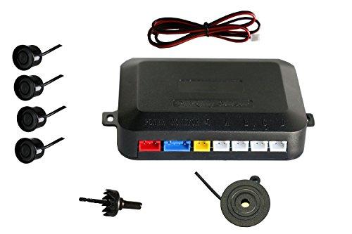 Sensor aparcamiento negro kit 4 sensor marcha atras con zumbador bici alarma de sonido negro
