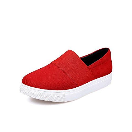 Talon Bas Voguezone009 Chaussures À Couleur Fermeture Unie Femme Tire  Légeres Rond Rouge Dorteil WZqwgXHq1 a216b79aed6