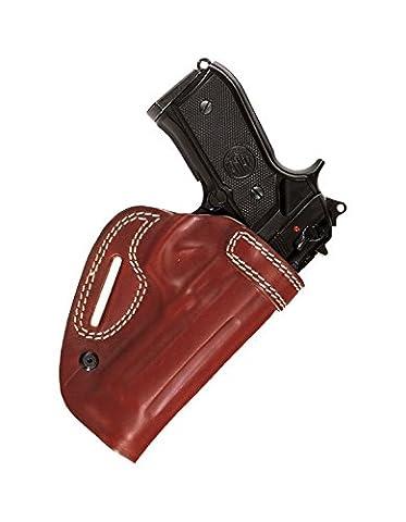 nc133–Holster ceinture côtés Colt 1911(Governement), Marrone Destra