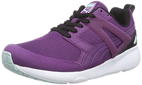 Puma Aril Basic Sports Wn's, Baskets Basses Femme Violet (grape Juice-black-fair Aqua 07)