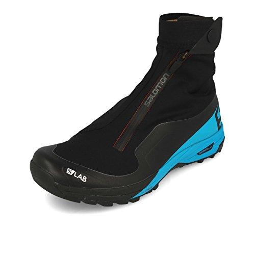 Salomon Unisex-Erwachsene S/lab Xa Alpine 2 Traillaufschuhe, Schwarz (Black/Transcend Blue/Racing Red 000), 45 1/3 EU Alpine 2 Schuh