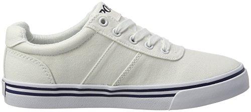 Ralph Lauren Jungen Hanford Sneaker Weiß (White Twill w/ multi pp)