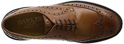 BARKER Grassington, Scarpe Stringate Derby Uomo Brown (Cedar Grain)