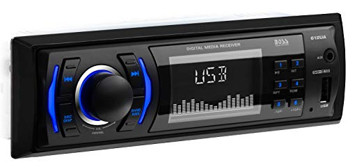 Boss Audio 612UA Single-DIN MECH-Less Multimedia Player (ohne CD/DVD), Schwarz - Dvd-player Boss
