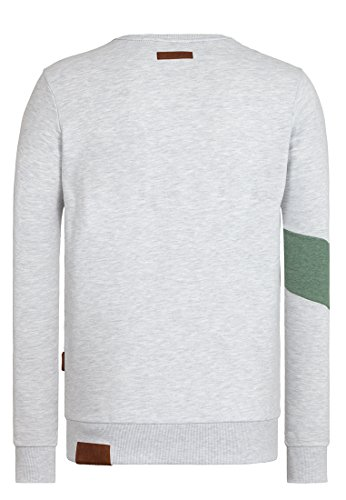 Naketano Male Sweatshirt Verdammte Order 66 Amazing grey melange