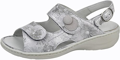 WALDLÄUFER signore sandalo Heria 408004-855-070 pietra grau