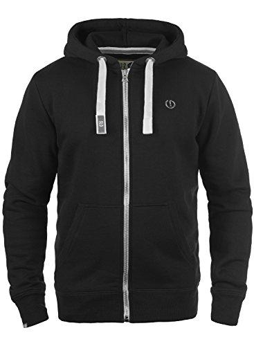 L/s Zip Pullover (SOLID BennZip Kapuzenjacke, Größe:L;Farbe:Black (9000))