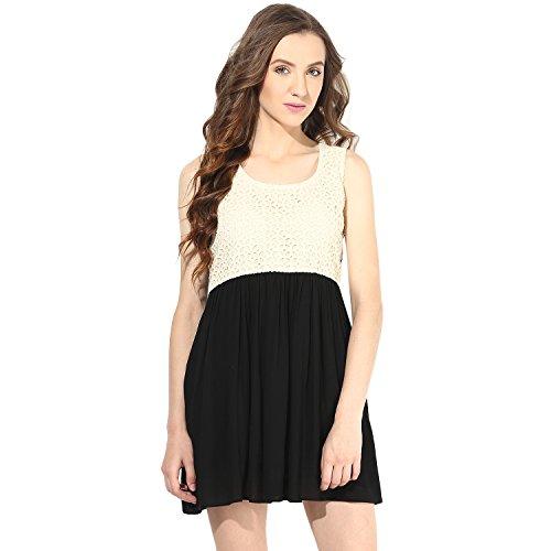 Shakumbhari Women's Cotton Peplum Dress (FW-001-XL_Black)  available at amazon for Rs.518