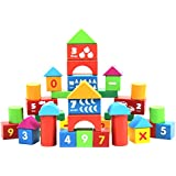 Toyvian A Set Of 100pcs Alphabet Letters Numbers Arithmetic Signs DIY Wooden Building Blocks Educational Toys For Kids