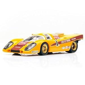 Dickie de Dickie-Schuco 413311011-True Scale-Porsche 917K de 1970de 1: 43KALAMI 9H, Naranja/Negro