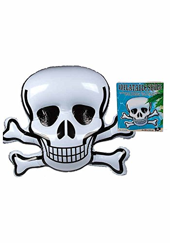 Totenkopf Skull XXL aufblasbar 135 x 110 cm als Luftmatratze oder Halloween Dekoration