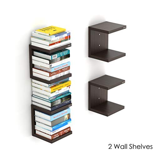 Bluewud Alvin Wall Mount Book Shelf Rack/Display Case - Ideal for Gift.
